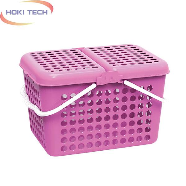 Giỏ vuông Family lớn màu hồng