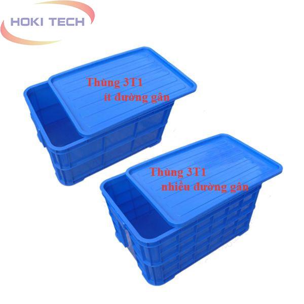 Thùng nhựa đặc 3T1
